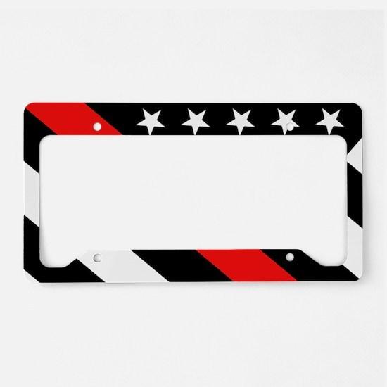 Firefighter Flag: Thin Red Li License Plate Holder