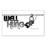Well Hung Rectangle Sticker 50 pk)