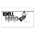 Well Hung Rectangle Sticker 10 pk)