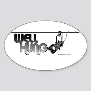 Well Hung Oval Sticker
