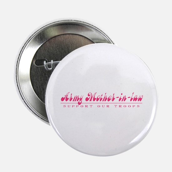 """Army Mother-in-Law - Girly Style 2.25"""" Button"""