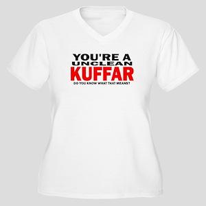 Kuffar Women's Plus Size V-Neck T-Shirt