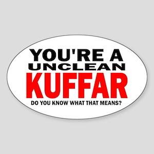 Kuffar Oval Sticker