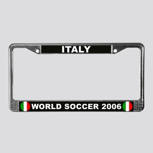Italy World Cup 2006 Soccer License Plate Frame