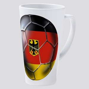 German Soccer Ball 17 Oz Latte Mug