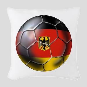 German Soccer Ball Woven Throw Pillow