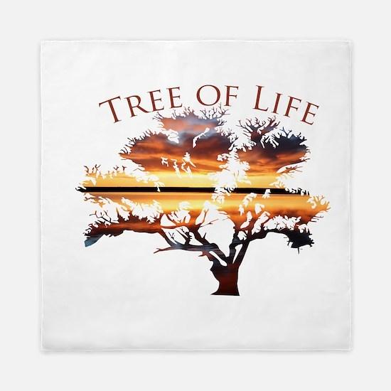 Tree of Life- Sunrise Tree Queen Duvet