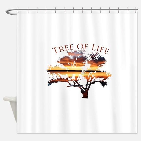 Tree of Life- Sunrise Tree Shower Curtain