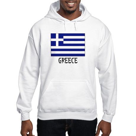 Greece Flag Hooded Sweatshirt
