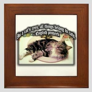 Cat's Eyes Framed Tile