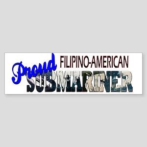 Proud Filipino-American Submariner Bumper Sticker