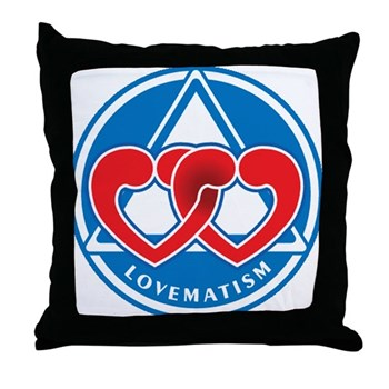 LOVEMATISM Throw Pillow