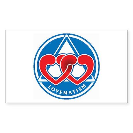 LOVEMATISM Rectangle Sticker