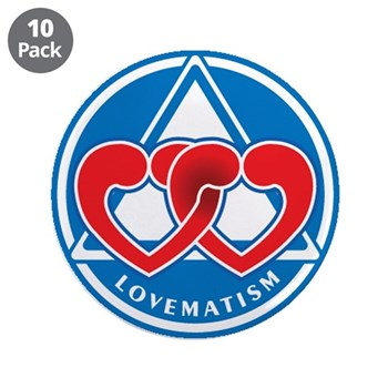 """LOVEMATISM 3.5"""" Button (10 pack)"""