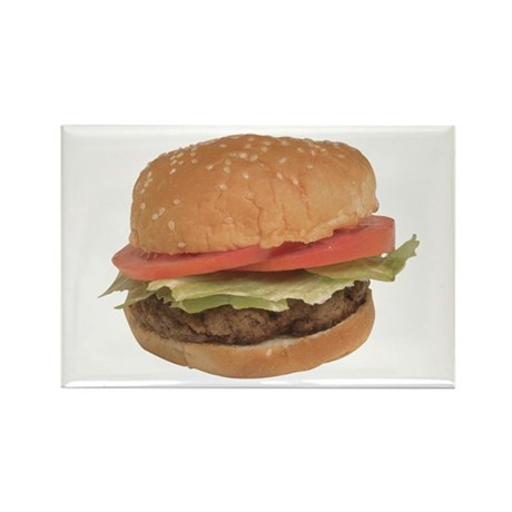 A Hamburger On Your Rectangle Magnet
