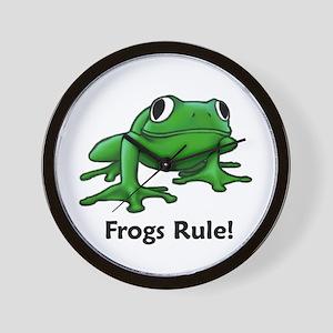 Frogs Rule! Wall Clock