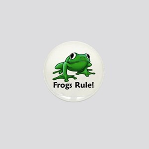 Frogs Rule! Mini Button