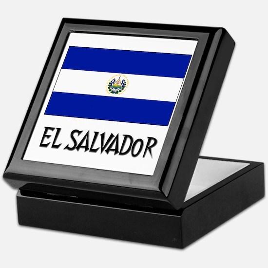 El Salvador Flag Keepsake Box