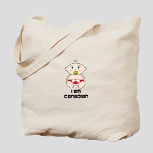I am Canadian Baby Tote Bag
