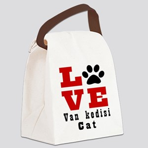 Love van kedisi Cats Canvas Lunch Bag