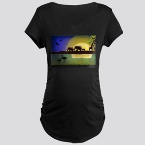 Animals African Landscape Maternity T-Shirt