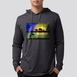 Animals African Landscape Long Sleeve T-Shirt