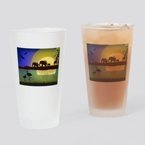 Animals African Landscape Drinking Glass