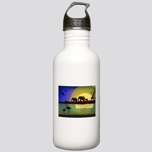 Animals African Landsc Stainless Water Bottle 1.0L