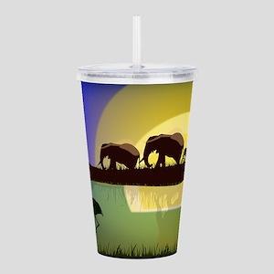 Animals African Landsc Acrylic Double-wall Tumbler