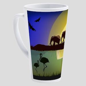 Animals African Landscape 17 oz Latte Mug