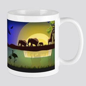 Animals African Landscape Mugs