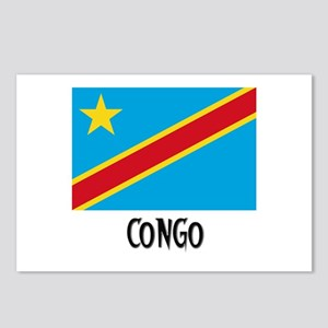 Congo Flag Postcards (Package of 8)