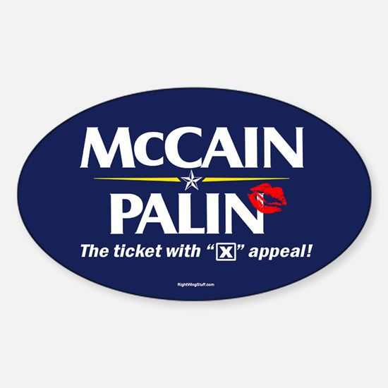 "McCain Palin ""X"" Appeal Oval Decal"