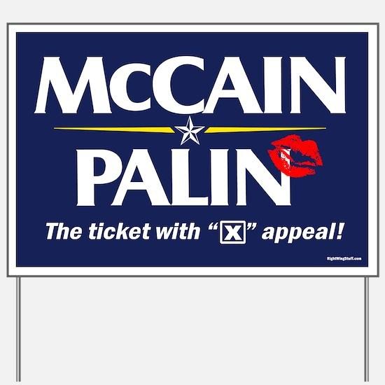 "McCain Palin ""X"" Appeal Yard Sign"
