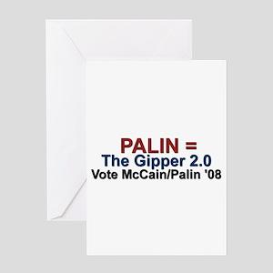Palin = The Gipper 2.0 Greeting Card