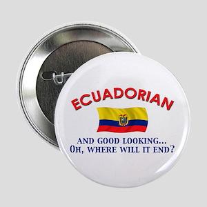"""Good Lkg Ecuadorian 2 2.25"""" Button"""