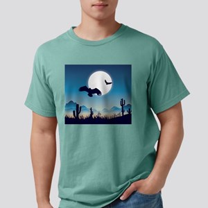 Night In the Desert Prairie with Cactuses T-Shirt