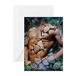 Rock Hard Male Nude Greeting Card