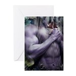 Muscle Male Nude Greeting Cards (Pk of 10)