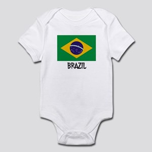 Brazil Flag Infant Bodysuit