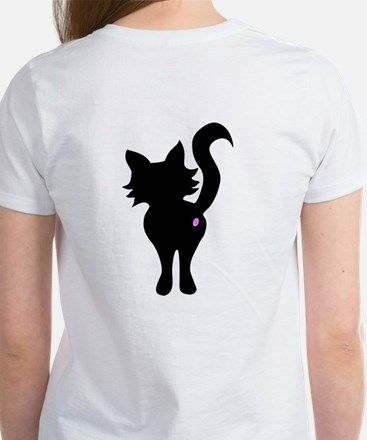 Front and Back Black Cat Women's T-Shirt