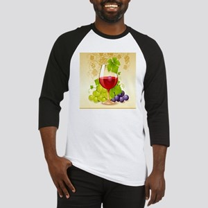 Wine Glass and Grape Vines Baseball Jersey