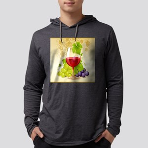 Wine Glass and Grape Vines Long Sleeve T-Shirt