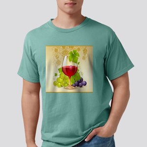 Wine Glass and Grape Vines T-Shirt