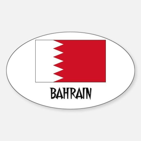 Bahrain Flag Oval Decal