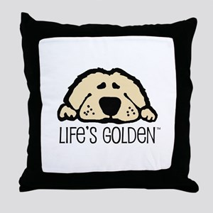 Life's Golden Throw Pillow