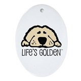 Golden retriever Oval Ornaments