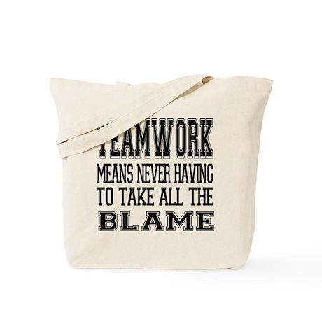 Teamwork Means... Tote Bag