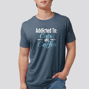 Addicted To Cats And Coffee T-Shirt