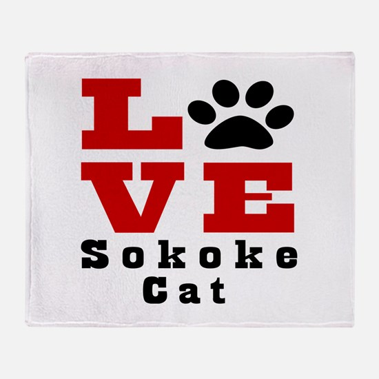 Love sokoke Cats Throw Blanket